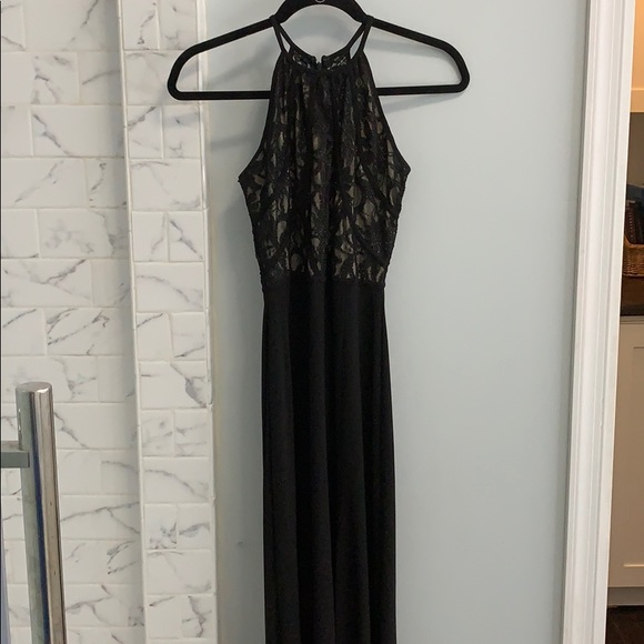 Morgan & Co. Dresses & Skirts - Long black formal high neck dress